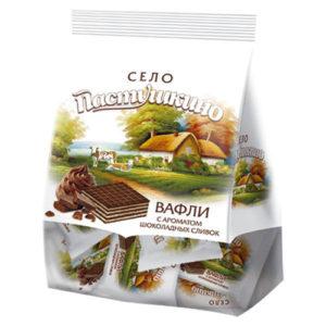 Bánh xốp Selo Pastushkino vị Chocolate Cream, 250 gr.
