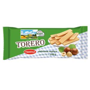 Bánh xốp Torero vị Hazelnut, 160 gr.