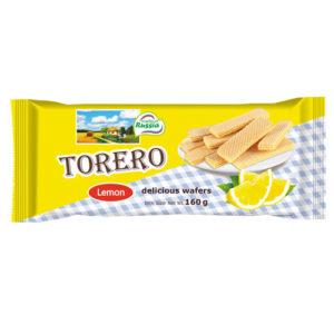Bánh xốp Torero vị chanh, 160 gr.