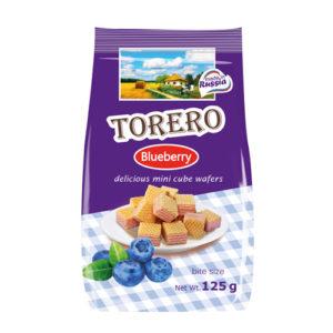 Bánh xốp mini Torero vị Blueberry, 125 gr.
