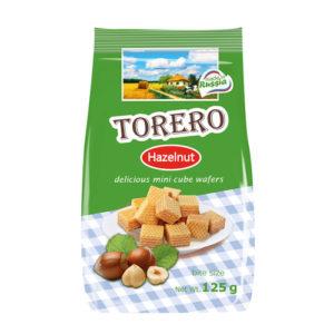 Bánh xốp mini Torero vị Hazelnut, 125 gr.