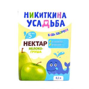 Nectar táo-lê Nikitkina Usadba 200ml