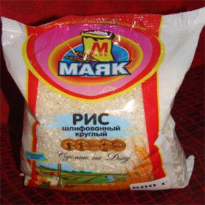 Gạo hạt tròn xát vỏ, 800 gr.