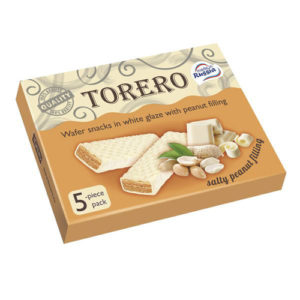 Bánh xốp snack Torero nhân đậu phộng, 145 gr.
