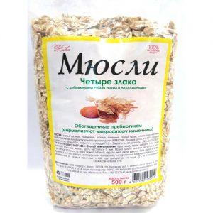Muesli 4 loại ngũ cốc với hạt bí và hạt hướng dương