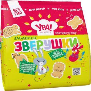 Bánh cookie giòn cho trẻ em Funny Animals, 250 gr