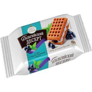 Bánh quy ngọt kiểu Bỉ hiệu Laycy Queen với kem và vị quả lý chua đen và bạc hà (