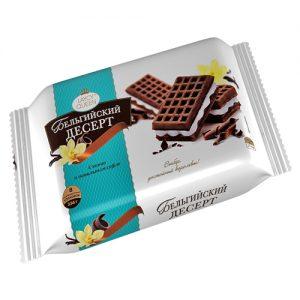 Bánh quy ngọt kiểu Bỉ hiệu Laycy Queen với kem vị vani và cacao (
